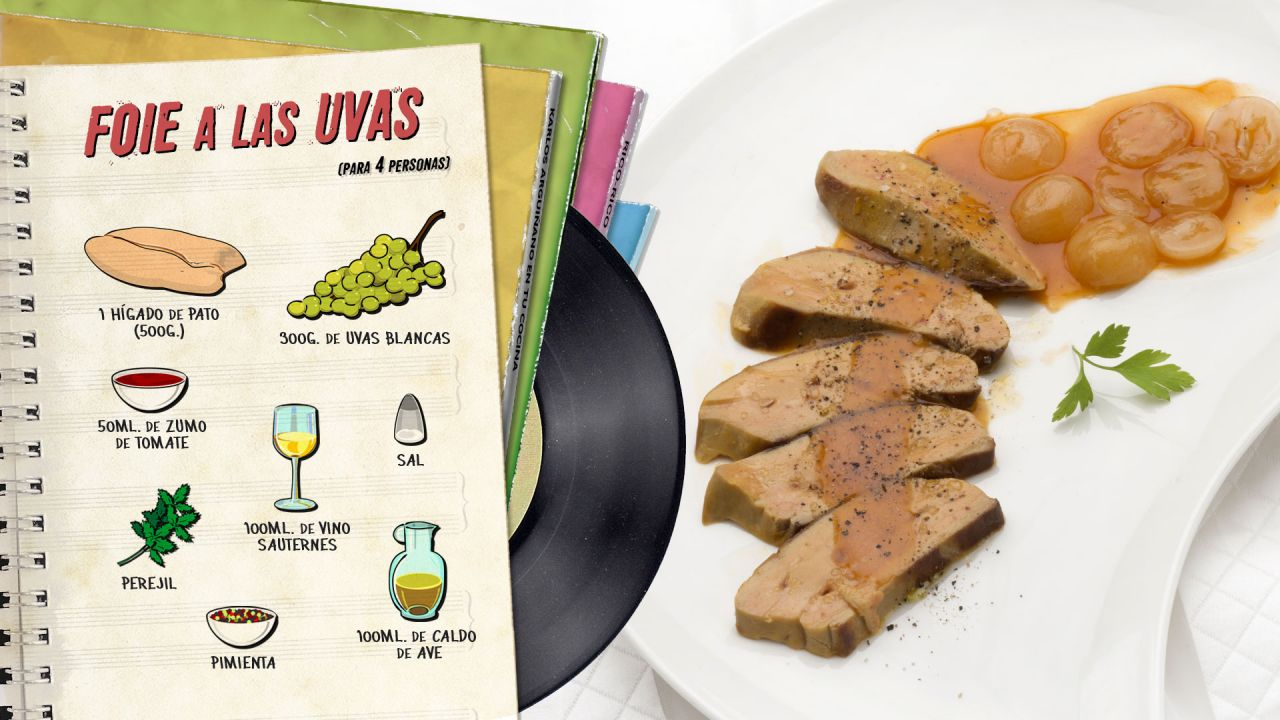 Foie a las uvas - Ingredientes