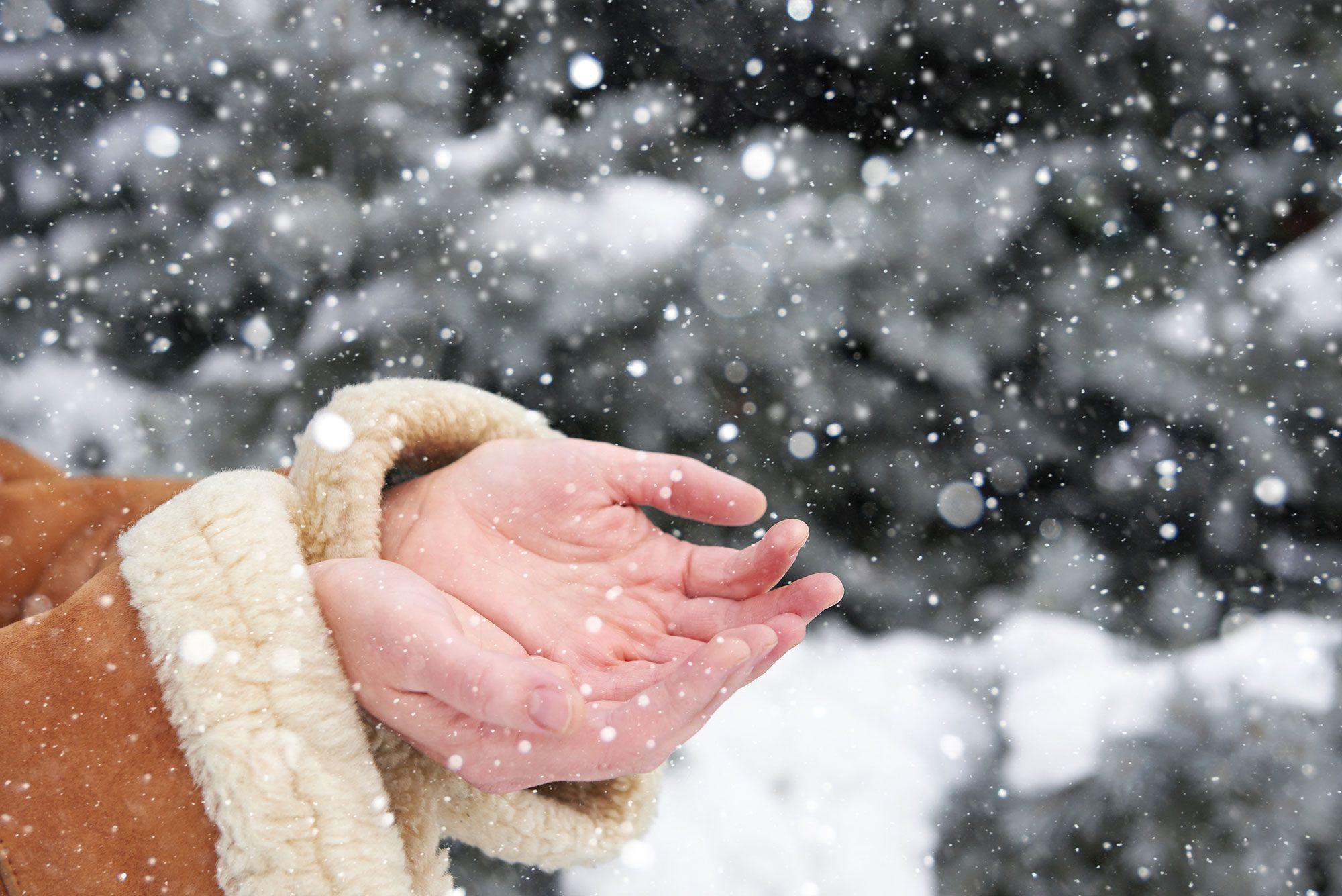 manos nieve