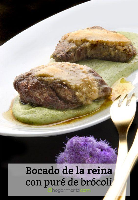 Receta de Bocado de la reina con puré de brócoli