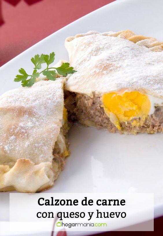 Receta de Calzone de carne con queso y huevo