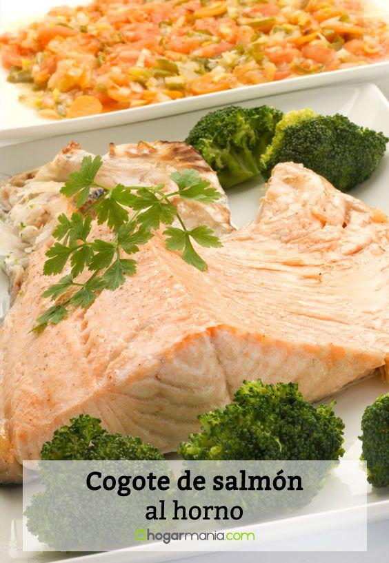 Receta de Cogote de salmón al horno