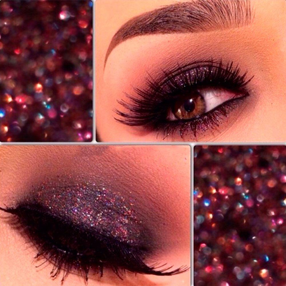 maquillaje ojos purpurina