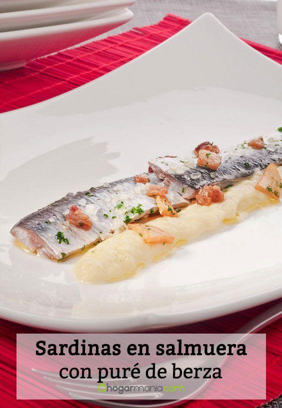 Receta de Sardinas en salmuera con puré de berza