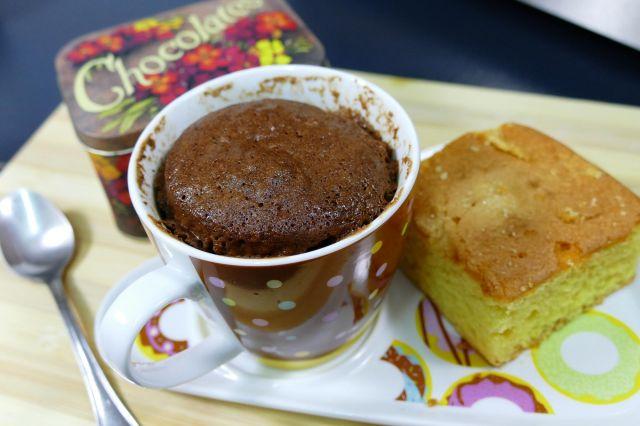 Mug cake de chocolate en microondas - Detalle Final