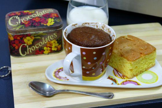Mug cake de chocolate en microondas - Detalle
