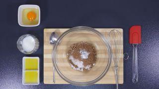 Mug cake de chocolate en microondas - Paso 1