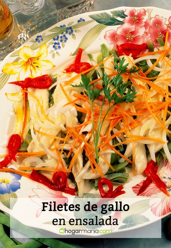 Filetes de gallo en ensalada