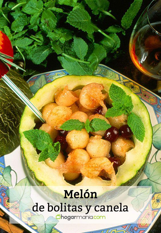 melón de bolitas y canela