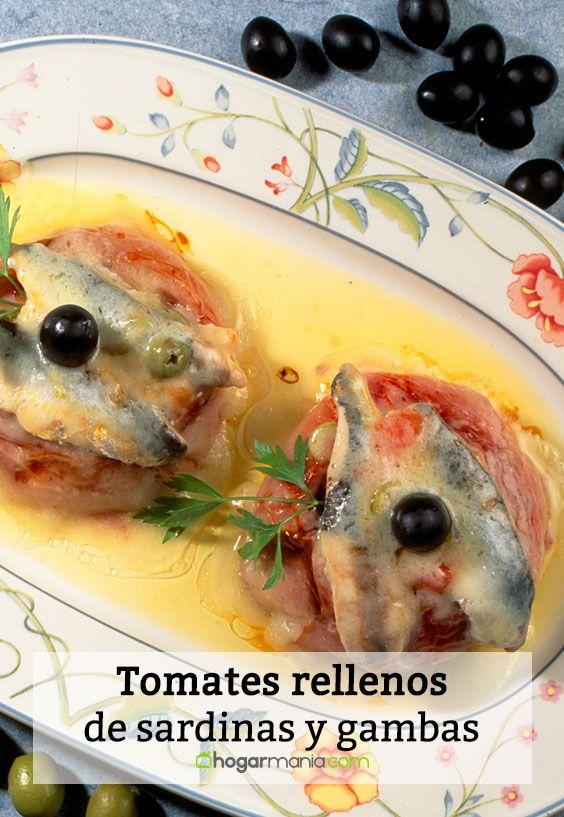 Tomates rellenos de sardinas y gambas