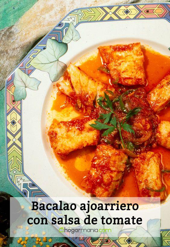 Bacalao ajoarriero con salsa de tomate