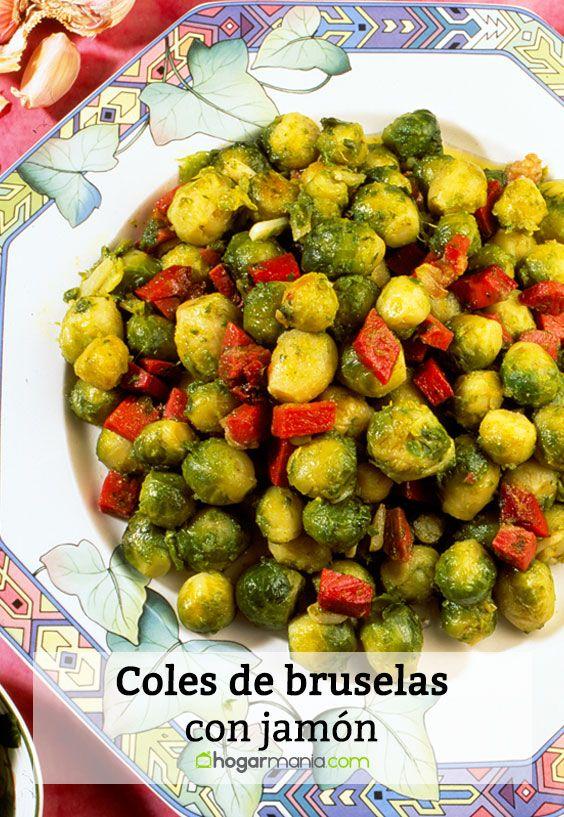 Receta de coles de bruselas con jam n karlos argui ano - Cocer coles de bruselas ...