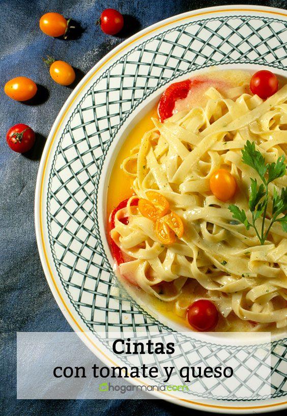 Cintas con tomate y queso