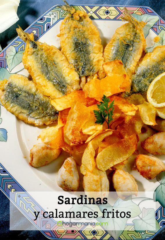 Sardinas y calamares fritos