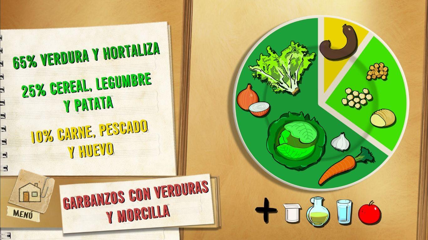 Garbanzos con verduras y morcilla