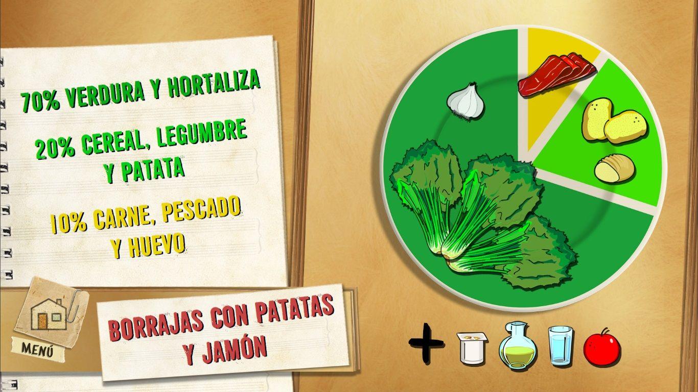Borraja con patatas y jamón