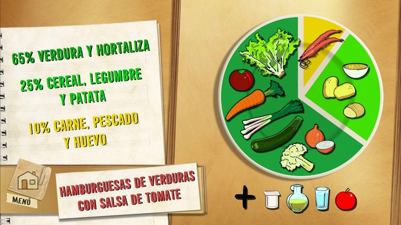 Hamburguesas de verduras con salsa de tomate