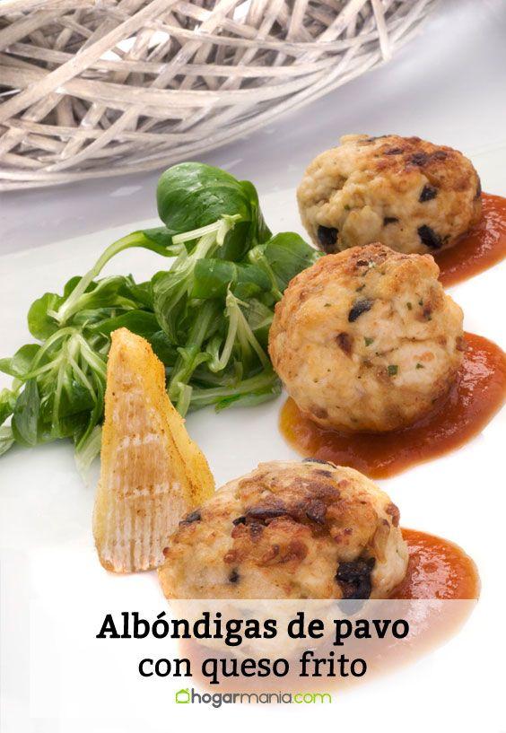 Receta de Albóndigas de pavo con queso frito