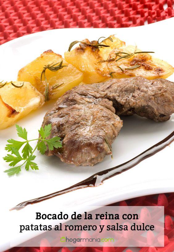 Receta de Bocado de la reina con patatas al romero y salsa dulce