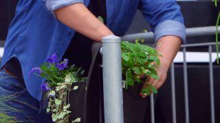 Jardineras de tela para el balcón - Fresal