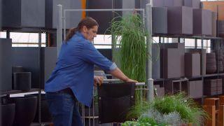Jardineras de tela para el balcón - Jardinera geotextil