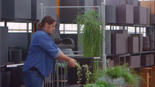 Jardineras de tela para el balcón - Plantas colgantes
