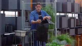 Jardineras de tela para el balcón - Humedad