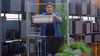 Jardineras de tela para el balcón - Jardinera convencional