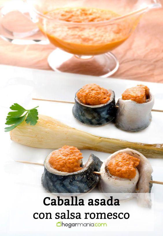 Receta de Caballa asada con salsa romesco