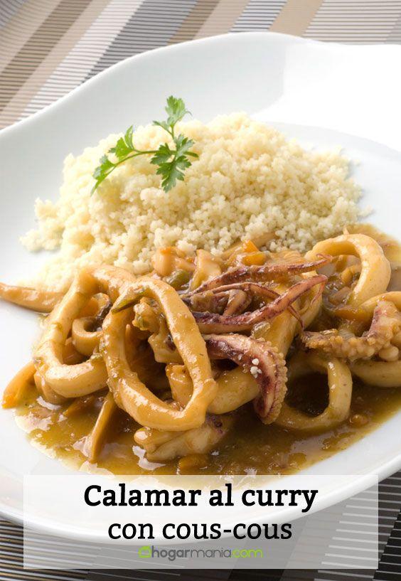 Receta de Calamar al curry con cous-cous