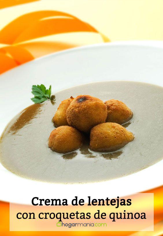 Receta de Crema de lentejas con croquetas de quinoa