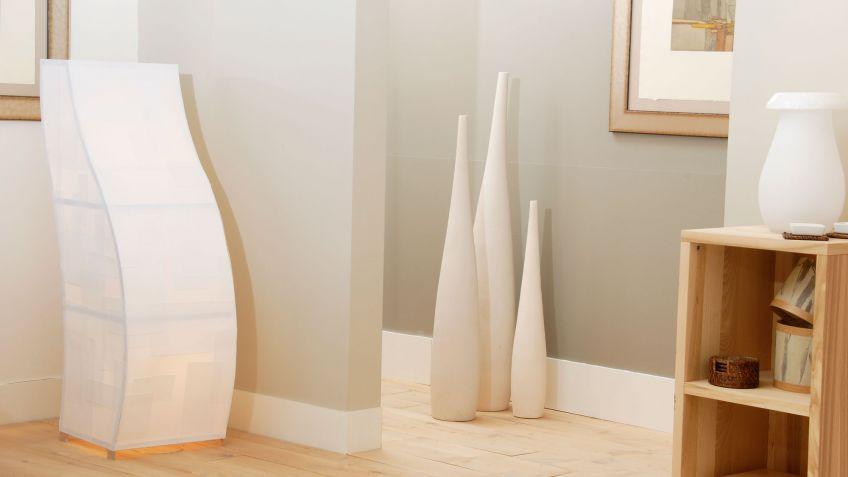 Cómo hacer una lámpara de pie de madera y papel - Decogarden