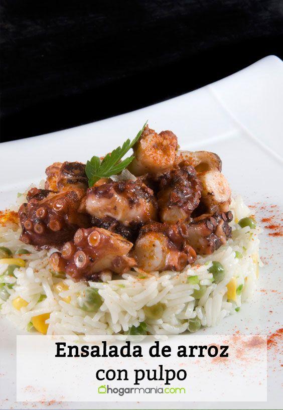 Receta de Ensalada de arroz con pulpo