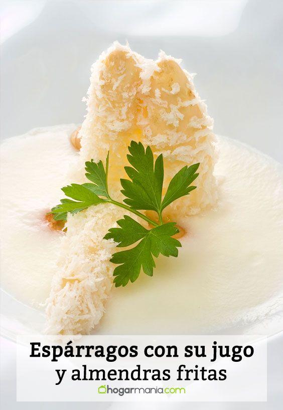 Receta de Espárragos con su jugo y almendras fritas