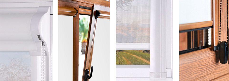 Estor para puertas y ventanas abatibles sin persiana