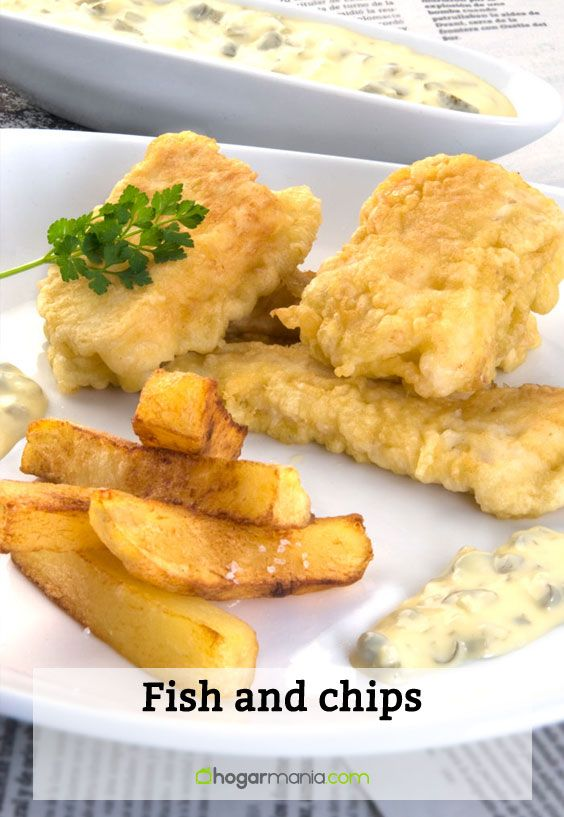 Receta de Fish and chips
