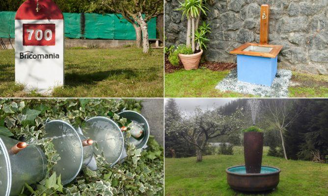 Ideas para hacer una fuente de jard n hogarmania for Bricolaje de jardin