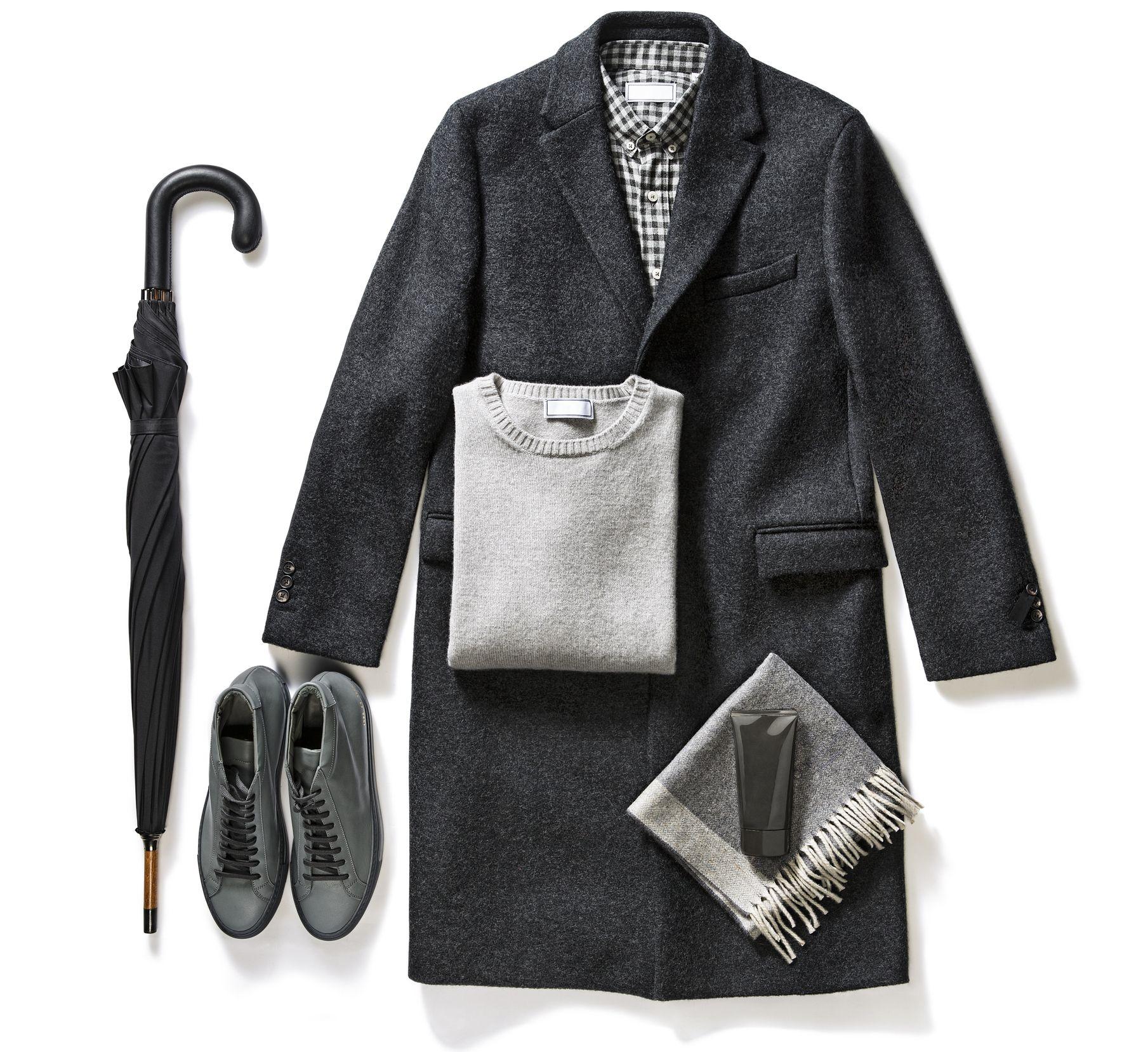 look formal hombre gris invierno