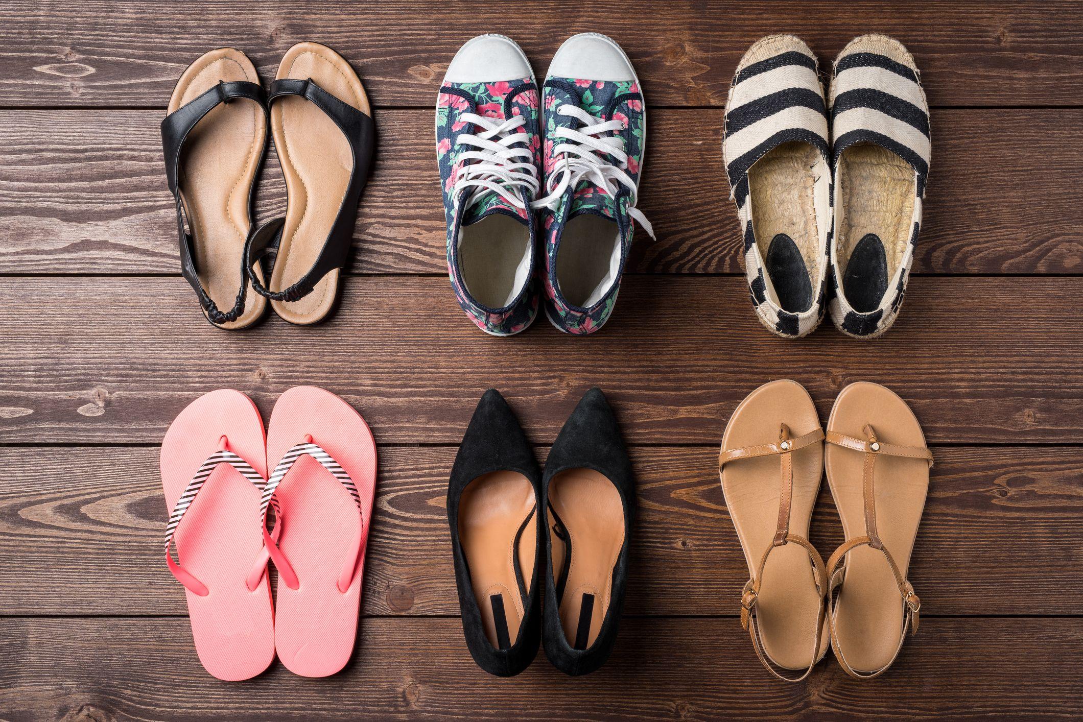 Organizar zapatos de verano
