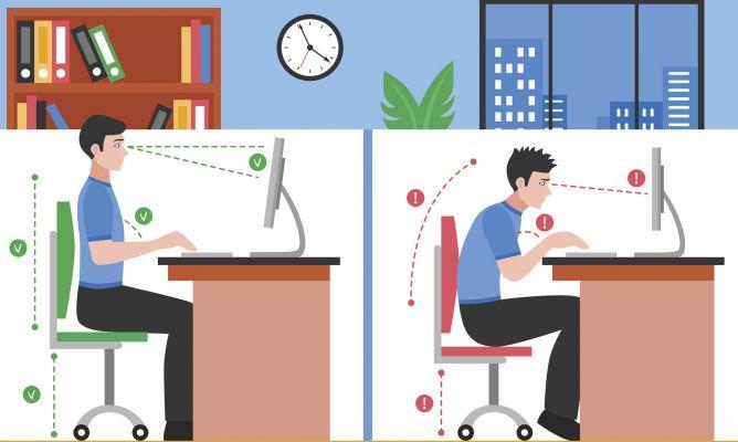Sillas Oficina Buenas Para Espalda.Posturas Correctas Para Cuidar Tu Espalda Hogarmania