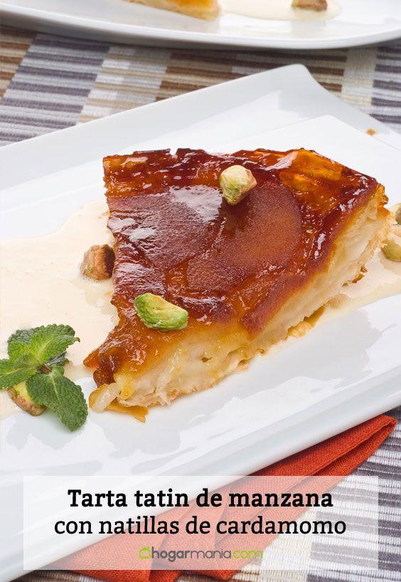 Receta de Tarta tatin de manzana con natillas de cardamomo