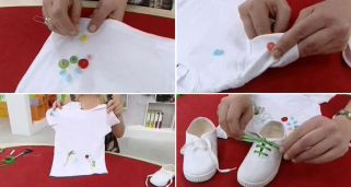 Decorar camiseta y zapatillas b�sicas infantiles