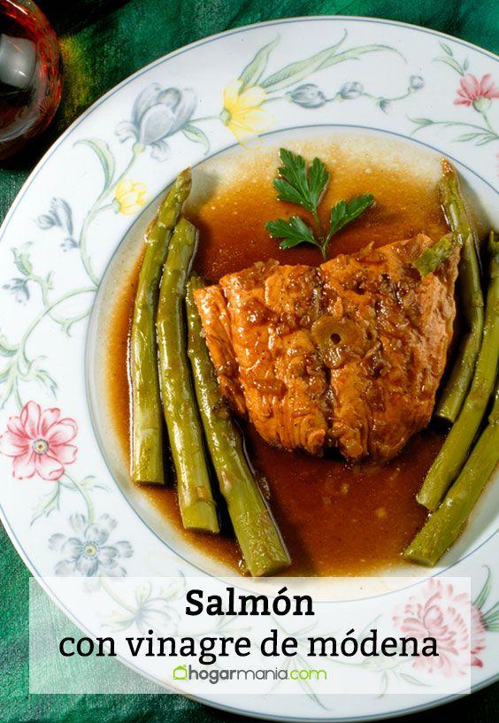 Salmón con vinagre de módena