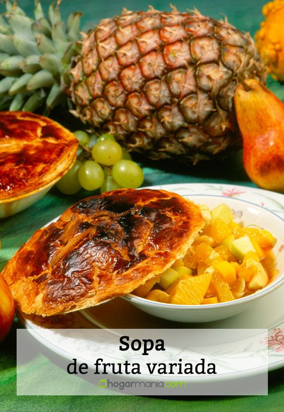 Sopa de fruta variada