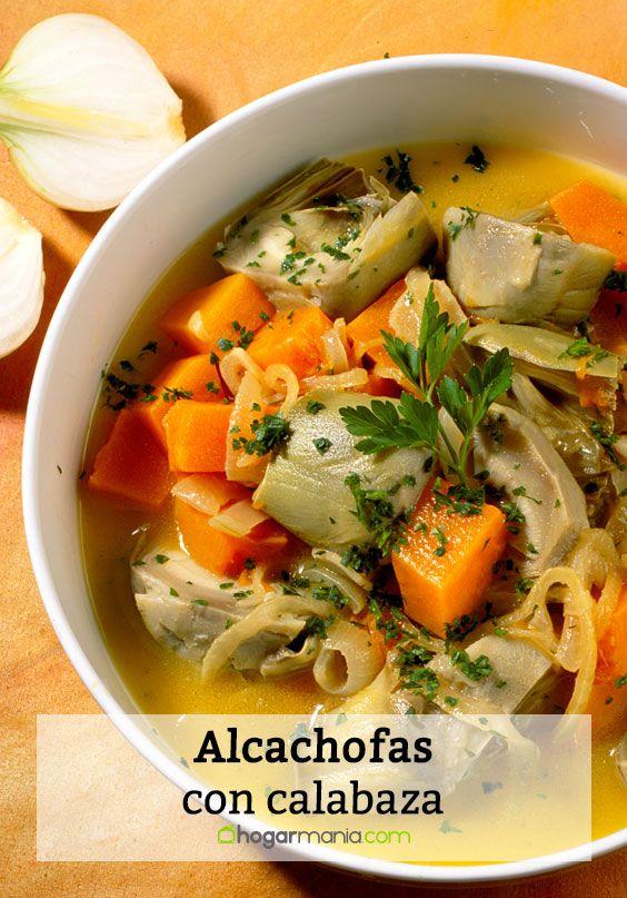 Alcachofas con calabaza