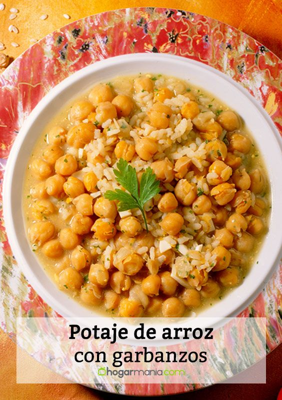 Potaje de arroz con garbanzos