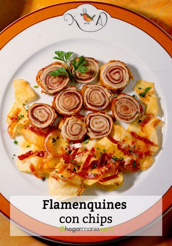 Flamenquines con chips