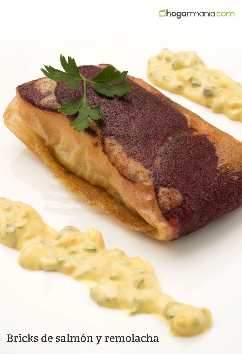Bricks de salmón y remolacha