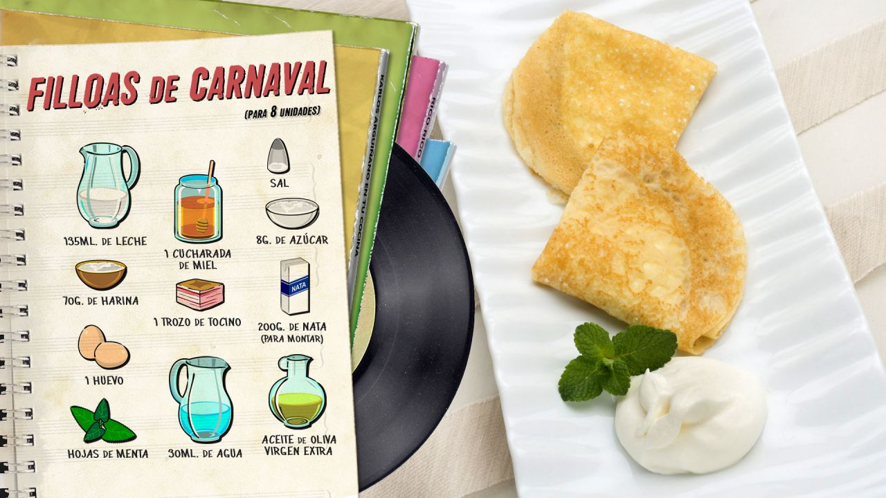 Filloas de carnaval - Ingredientes
