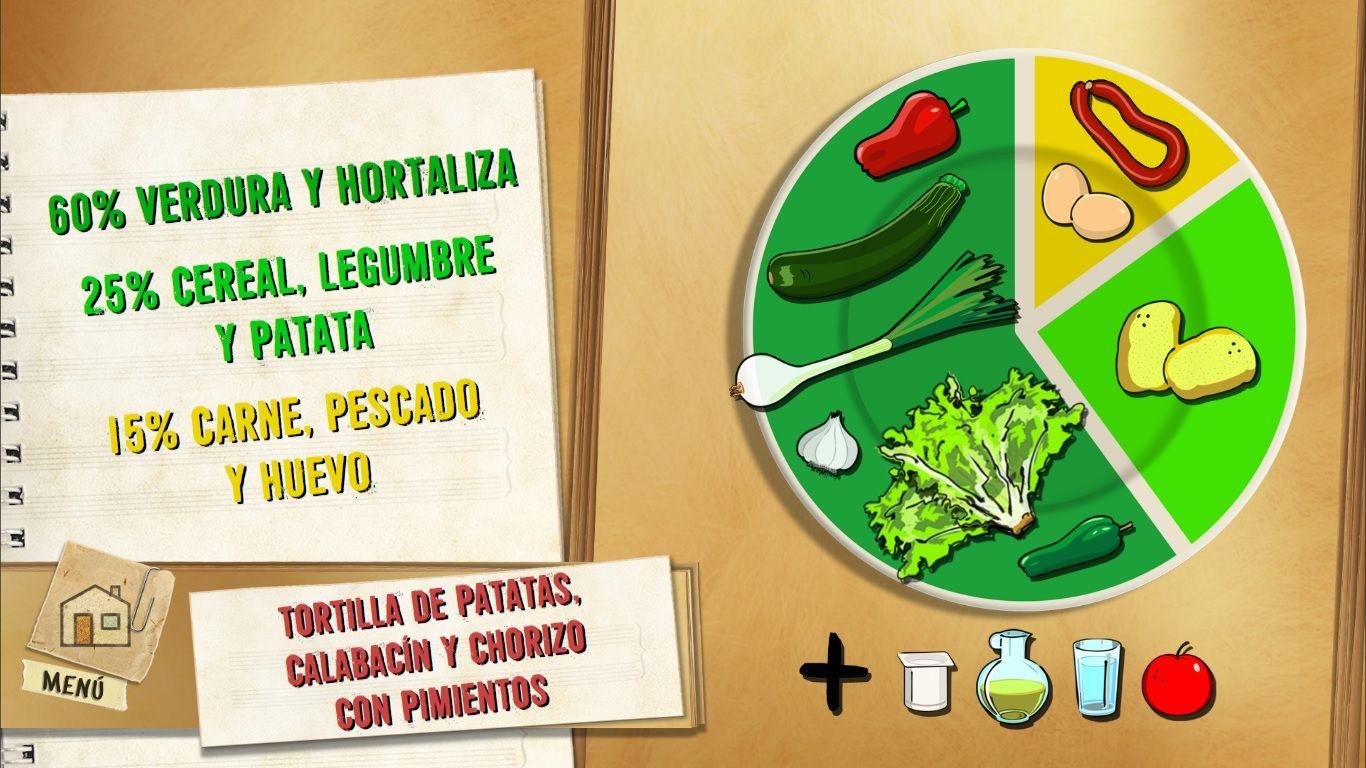 Tortilla de patatas, calabacín y chorizo con pimientos