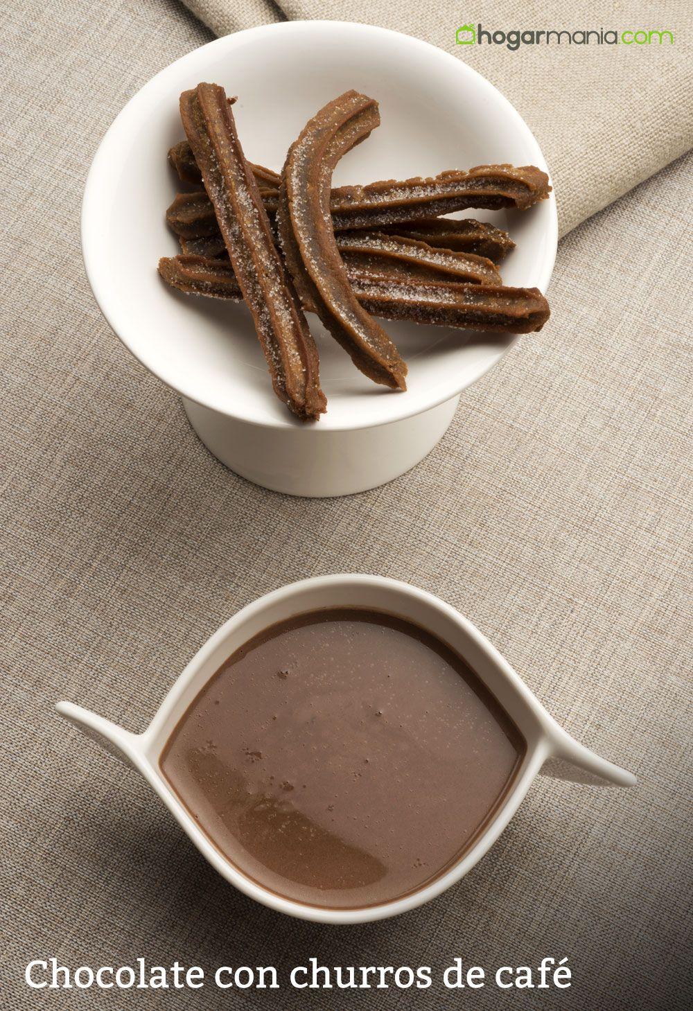 Chocolate con churros de café